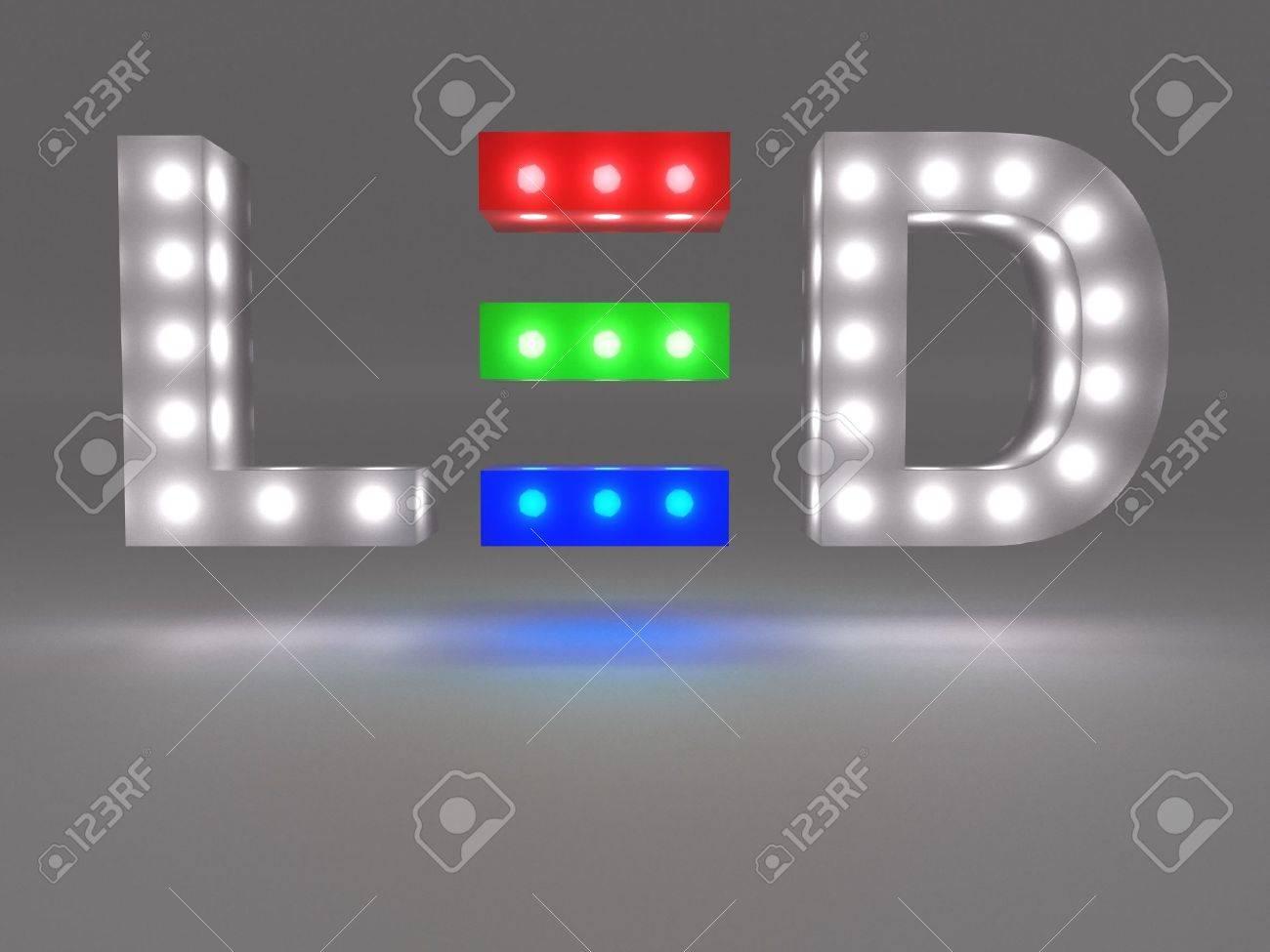 LED technology sign Stock Photo - 21258814
