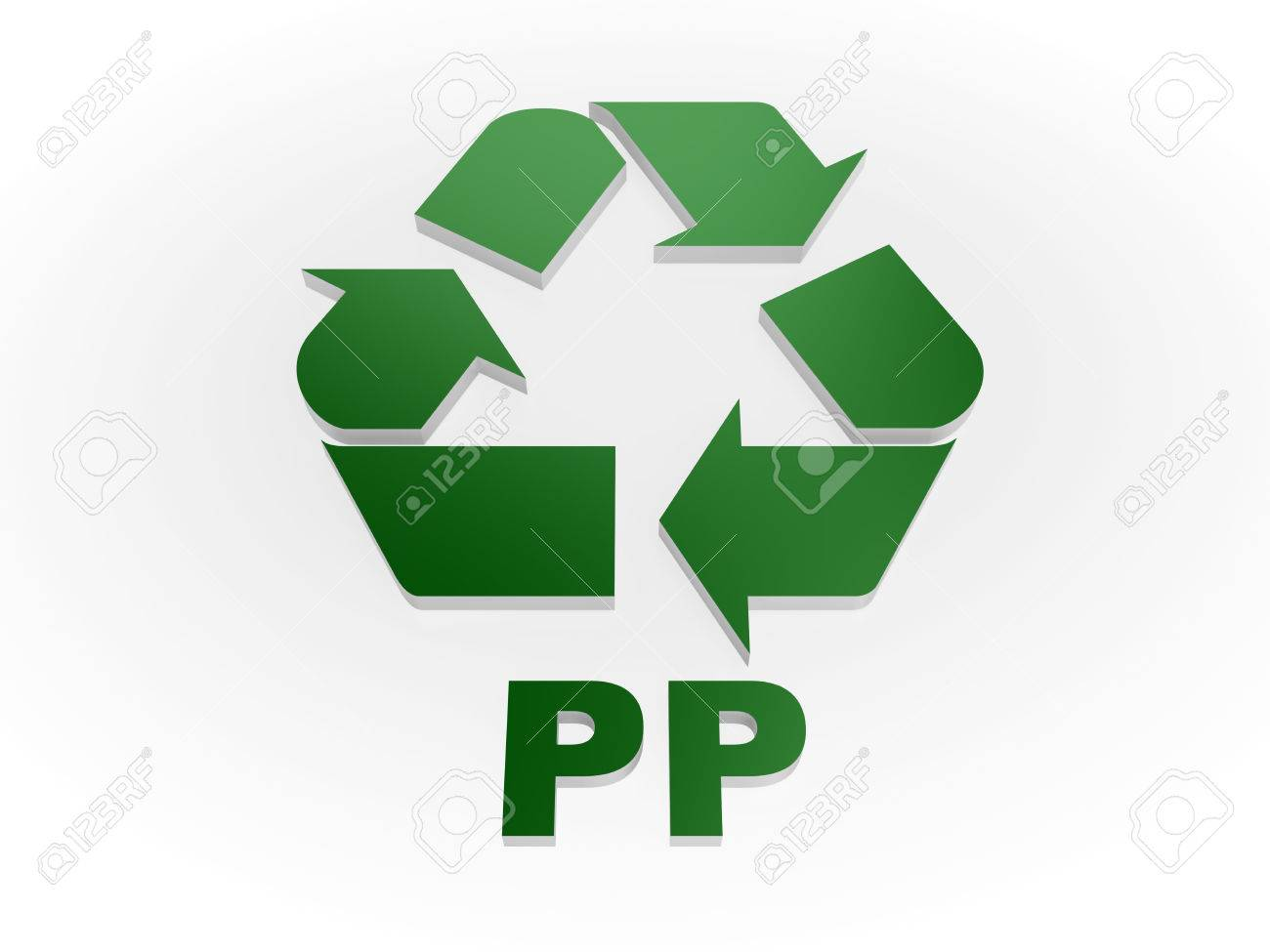 Recycle PP sign Recycling codes - Polypropylene