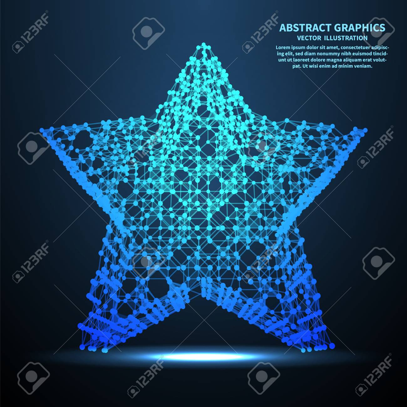 Abstract Star, Vector Illustration. Network Connections With ...