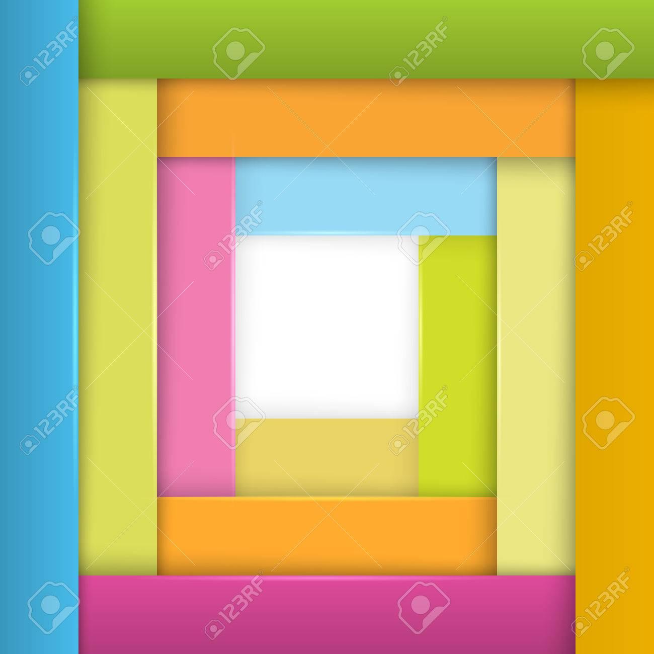Fondo Frontera Marco Geométrico Abstracto. Los Elementos De Diseño ...