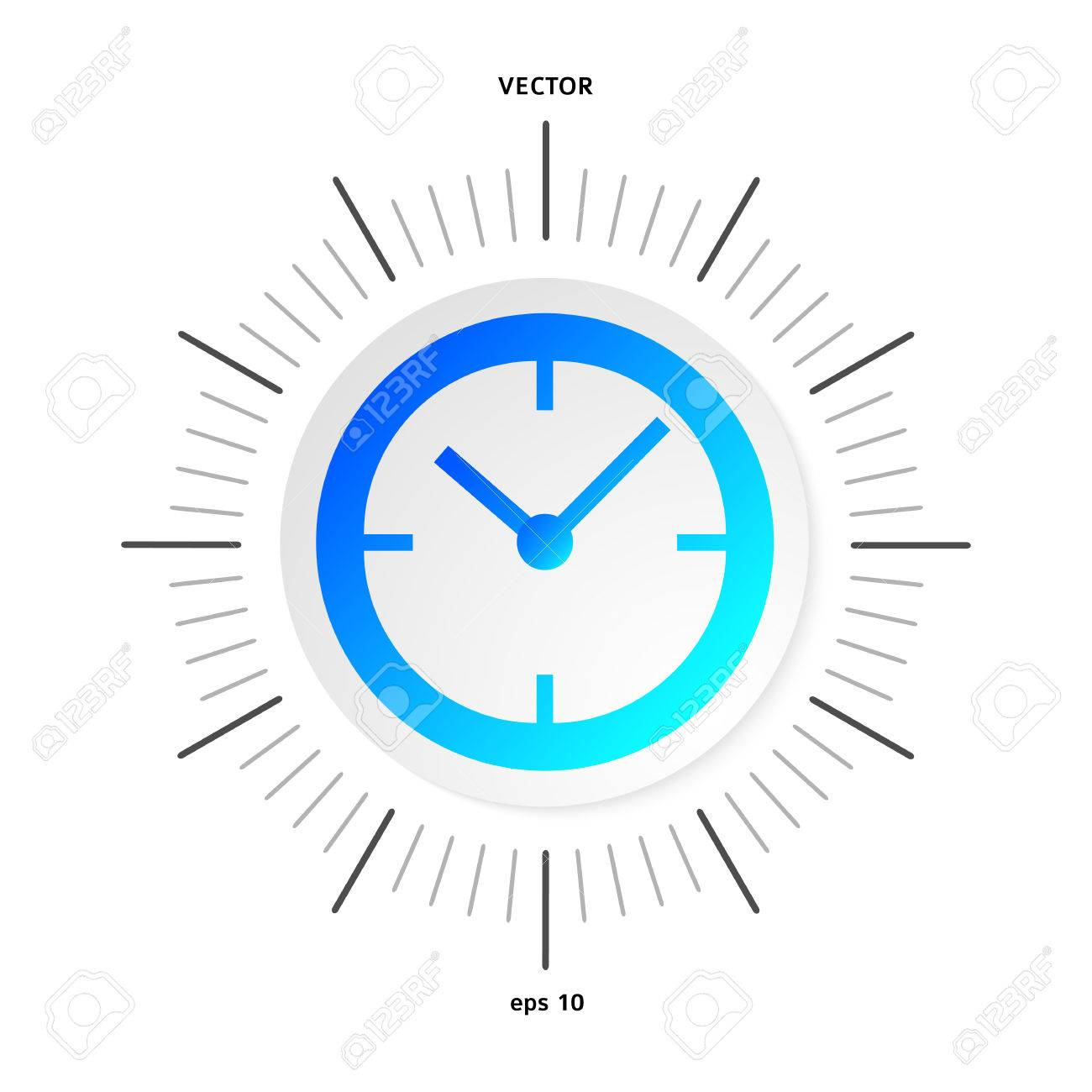 Diagram of analog clock block and schematic diagrams the clock concept poster or cover book elegant black and blue rh 123rf com blank printable clock face clock templates for students ccuart Images