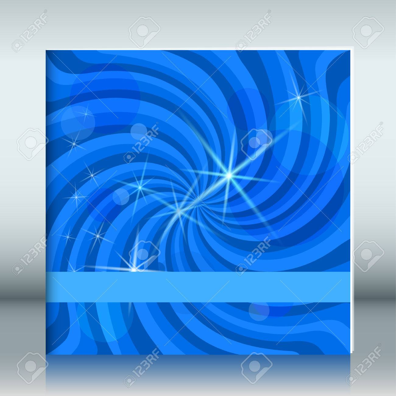 Cover page designs for school projects note book cover page design - Blue Swirl Magic Stars For Kids Cover Notebook Vector Illustration For Your Lovely Fine
