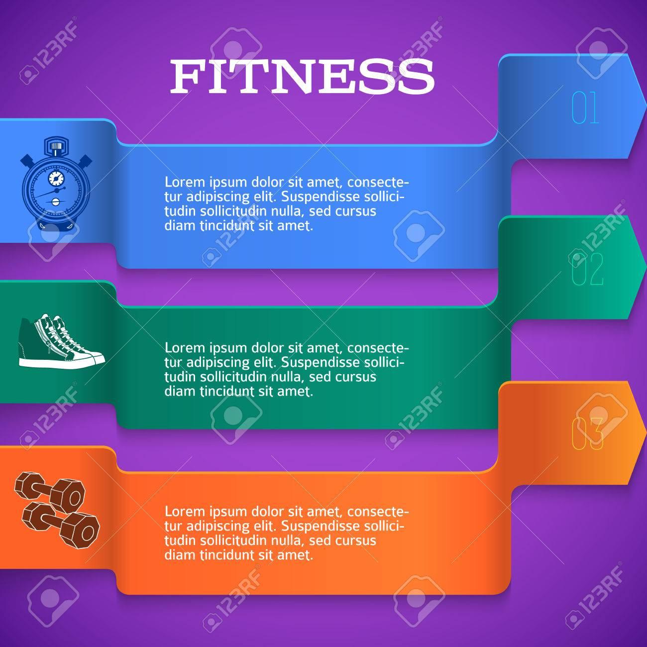 Vector Tab Template For Fitness Plan Artworks / Modern Flyer ...