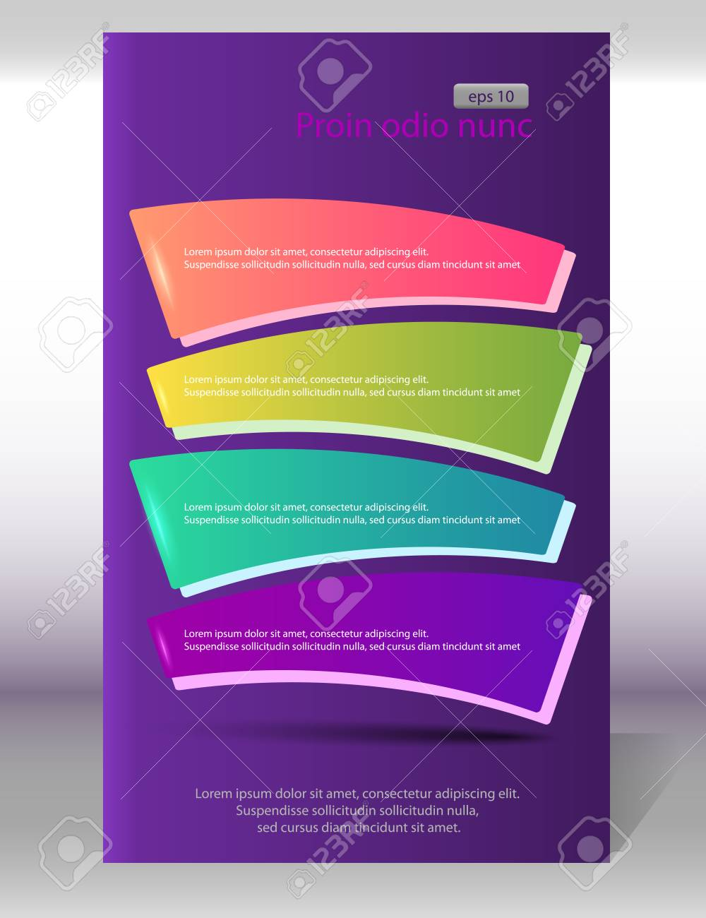 Advertisement Flyer Design Elements On Purple Background Vector Illustration Can Use For Modern Template