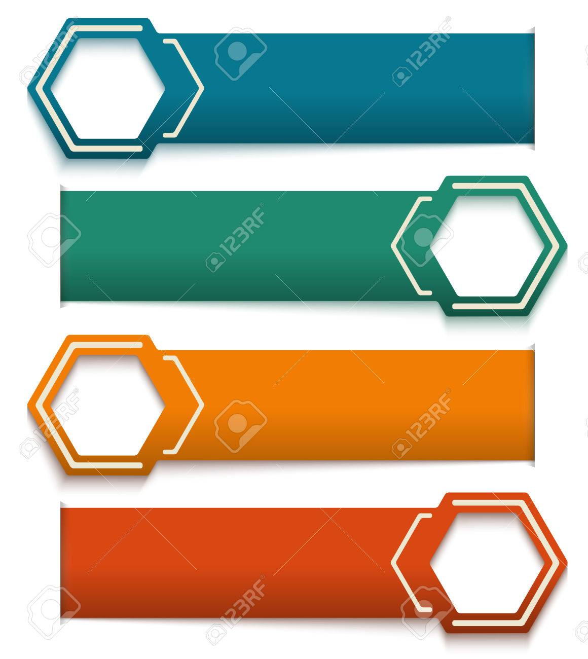 Colorful Number Options Banner & Card/ Vector Illustration ...