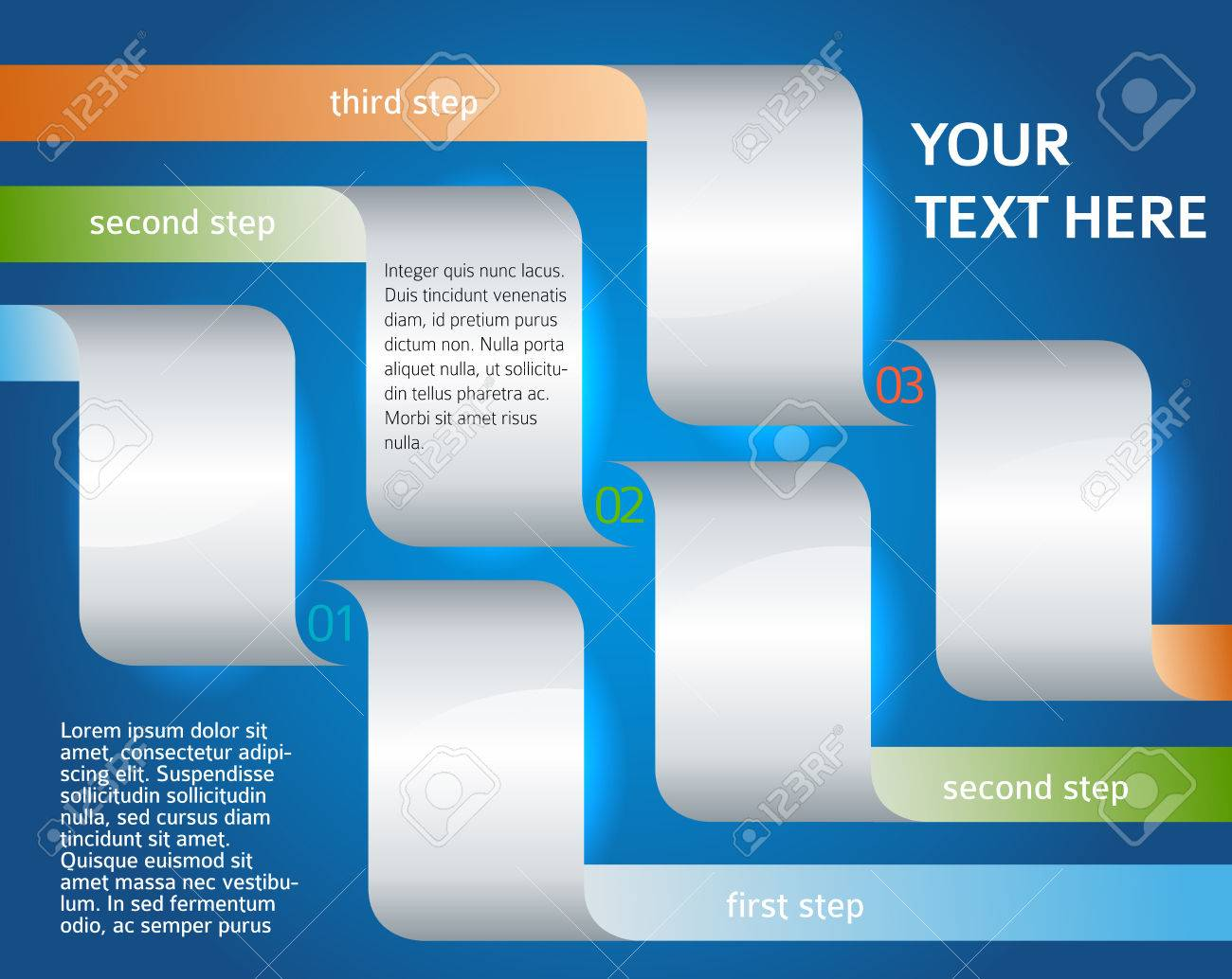 modern design style info graphic template on deep blue background modern design style info graphic template on deep blue background for numbered banners