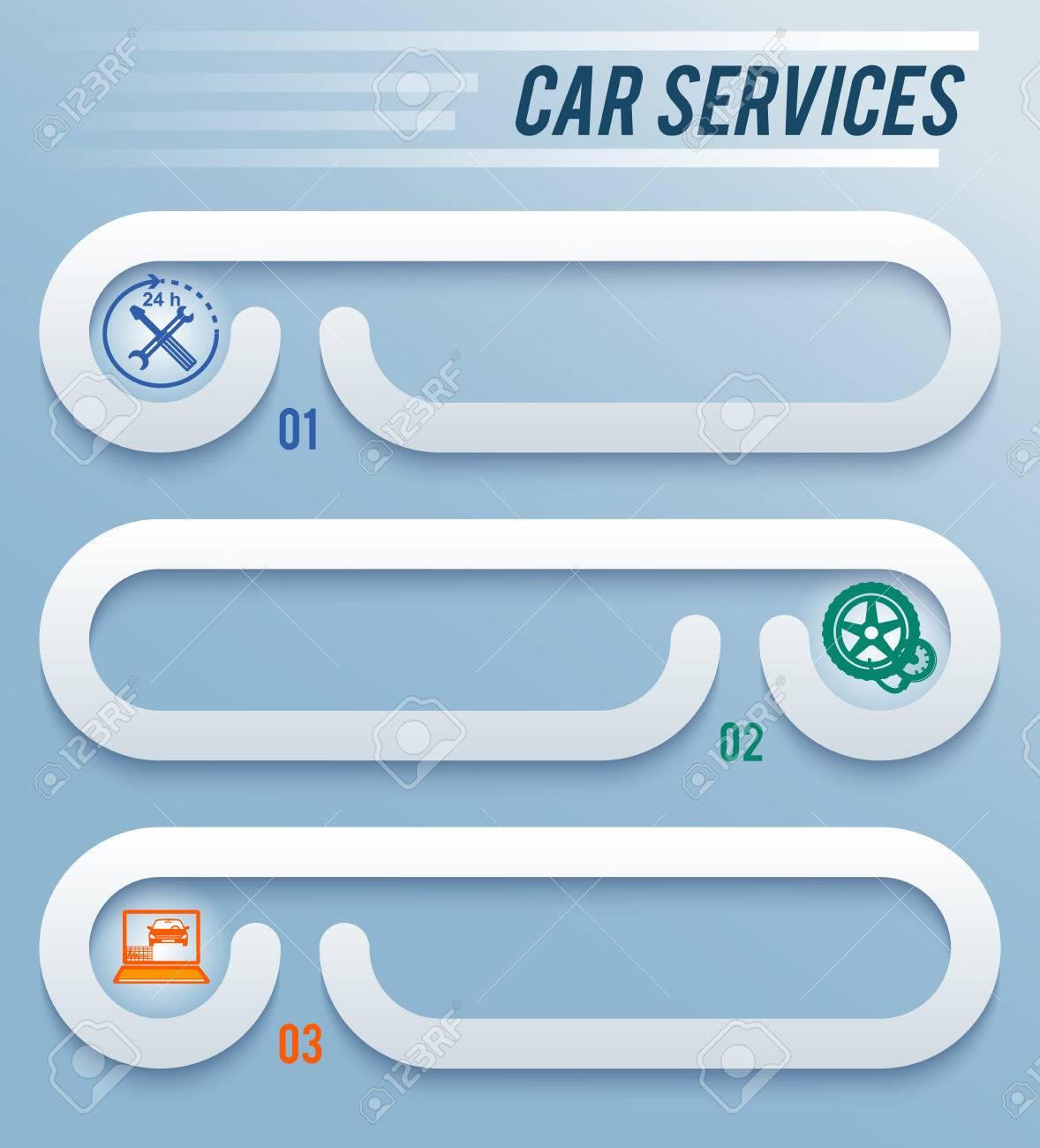 Auto Servicio Y Lavado De Autos De Fondo Con Iconos De Elementos De ...