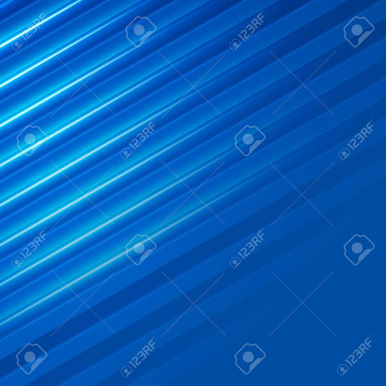 Blue Background Advertising Brochure Design Elements. Glowing Light Stripe  Oblique Graphic Form For Elegant Flyer