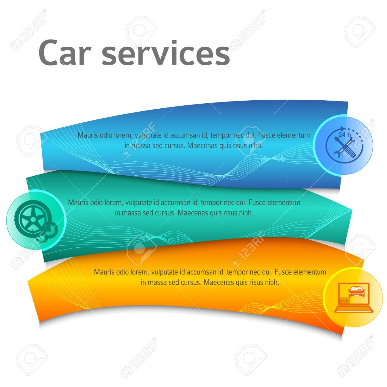 Auto-Service-Business Präsentationsvorlage Auf Stahl Hintergrund ...