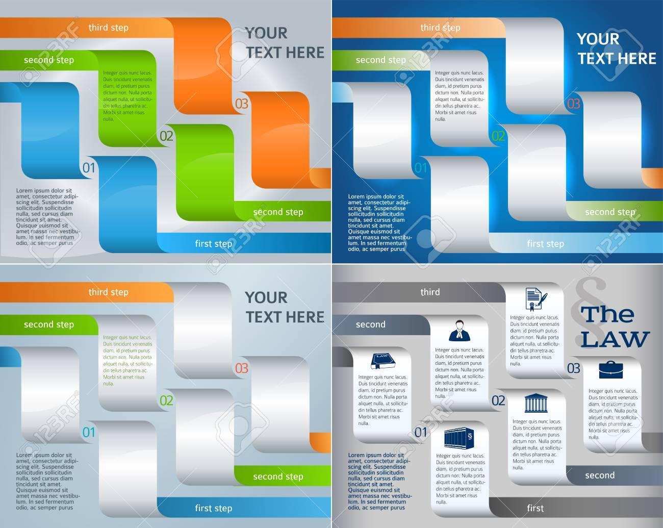 Legen Sie Design-Business-Präsentationsvorlage. Vector Illustration ...