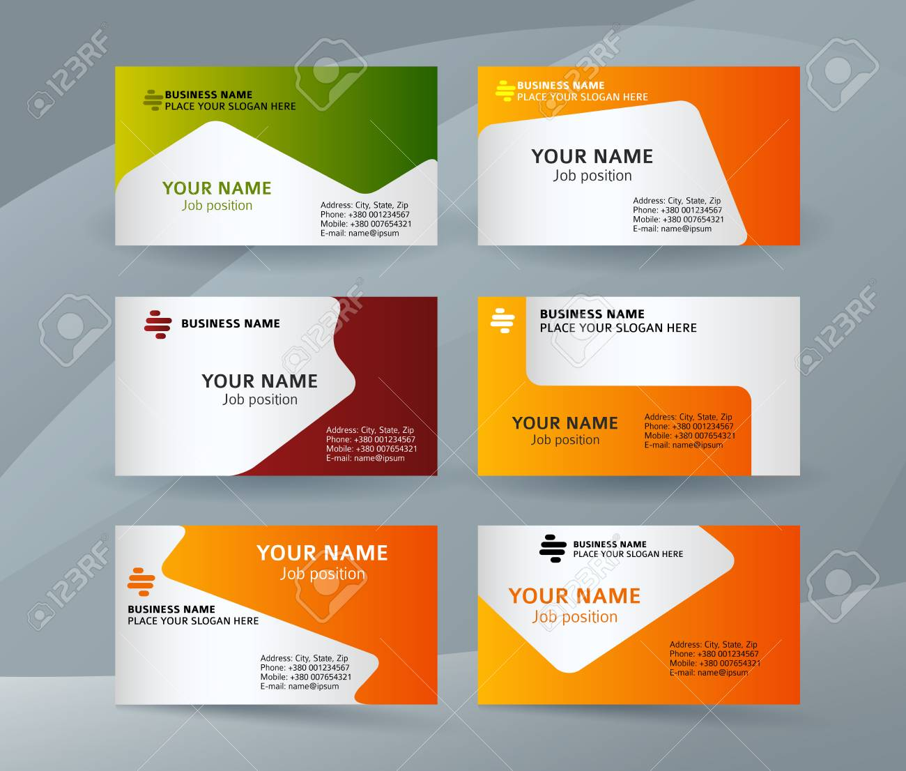 Abstract professional and designer business card template or abstract professional and designer business card template or clear and minimal visiting card set name reheart Choice Image