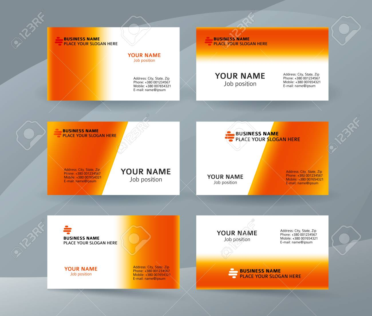 Abstract Professional And Designer Business Card Template Or ...