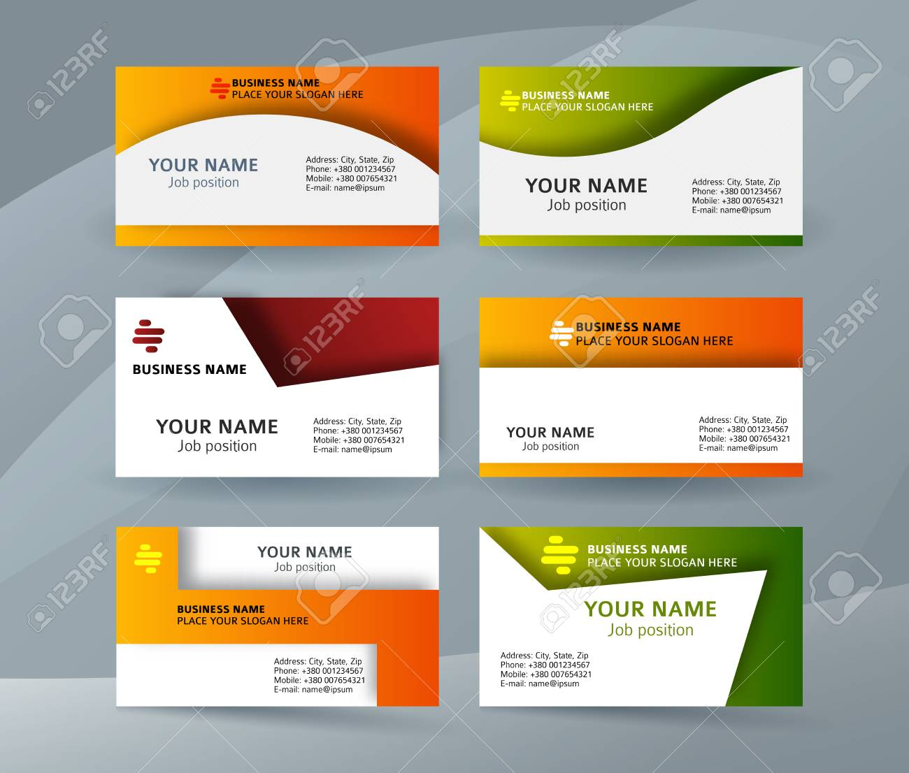 Abstract professional and designer business card template or abstract professional and designer business card template or clear and minimal visiting card set name flashek Image collections