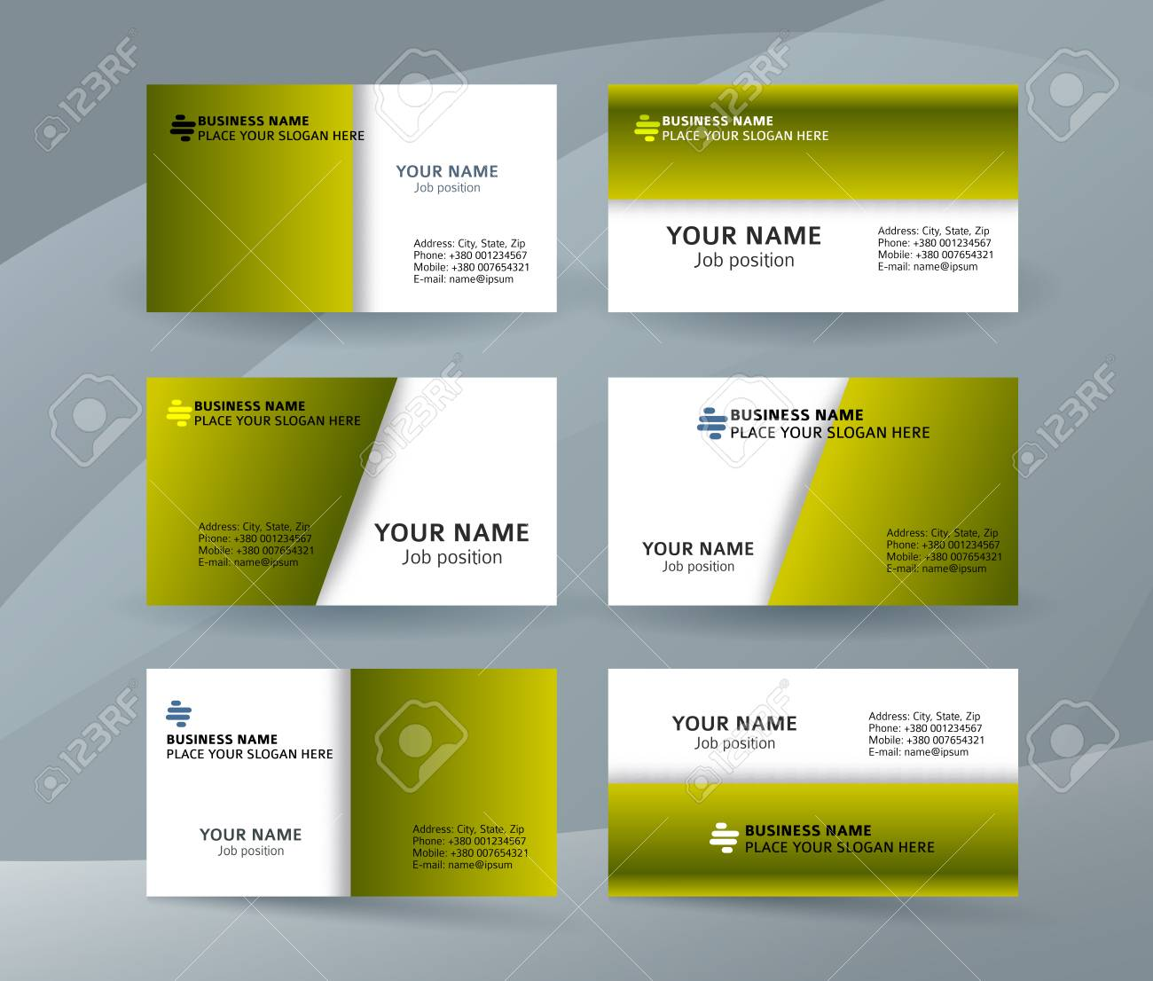 Abstract Professional And Designer Business Card Template Or