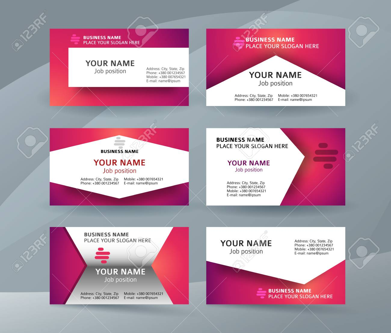 Abstract professional and designer business card template or abstract professional and designer business card template or clear and minimal visiting card set name colourmoves