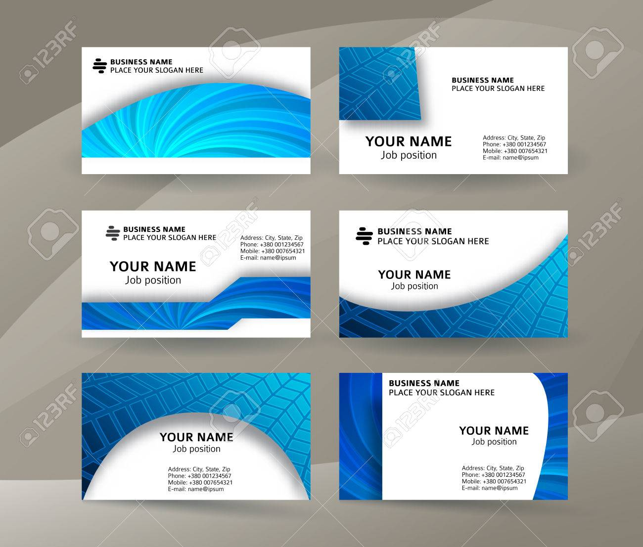 Abstract Professional And Designer Business Card One Sided ...