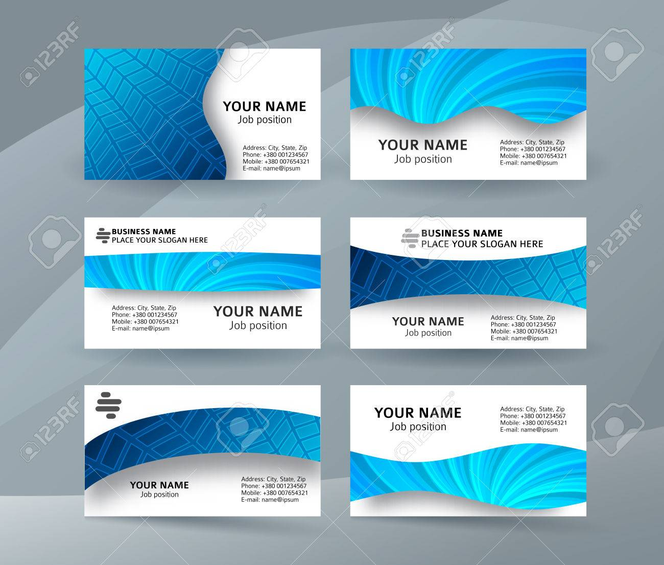 Abstract Professional And Designer Business Card One Sided Template