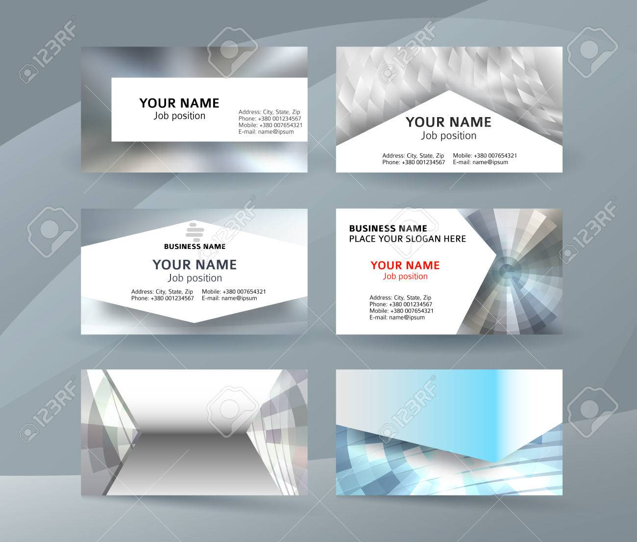 Abstract professional and designer business card one sided template abstract professional and designer business card one sided template or clear and minimal visiting card set flashek Images