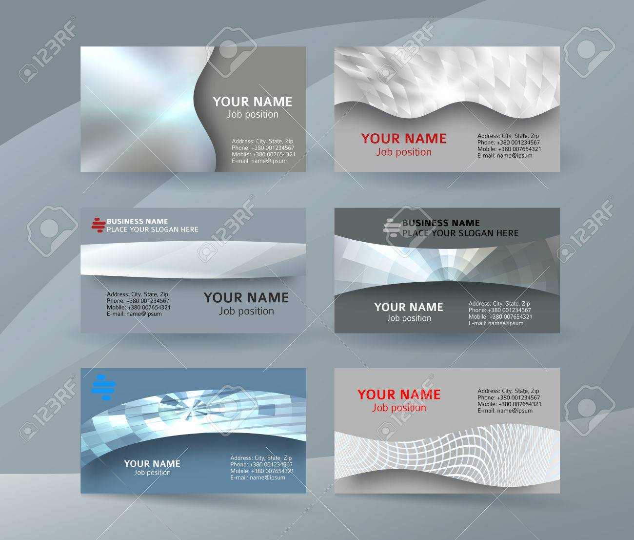 Abstract Professional And Designer Business Card One Sided Template ...