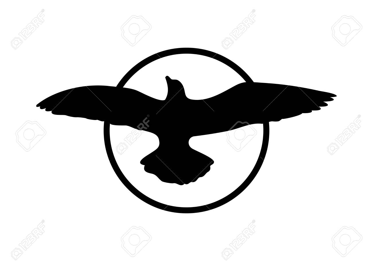 Design Elements Symbol Of Peace With A Bird Flying Royalty Free