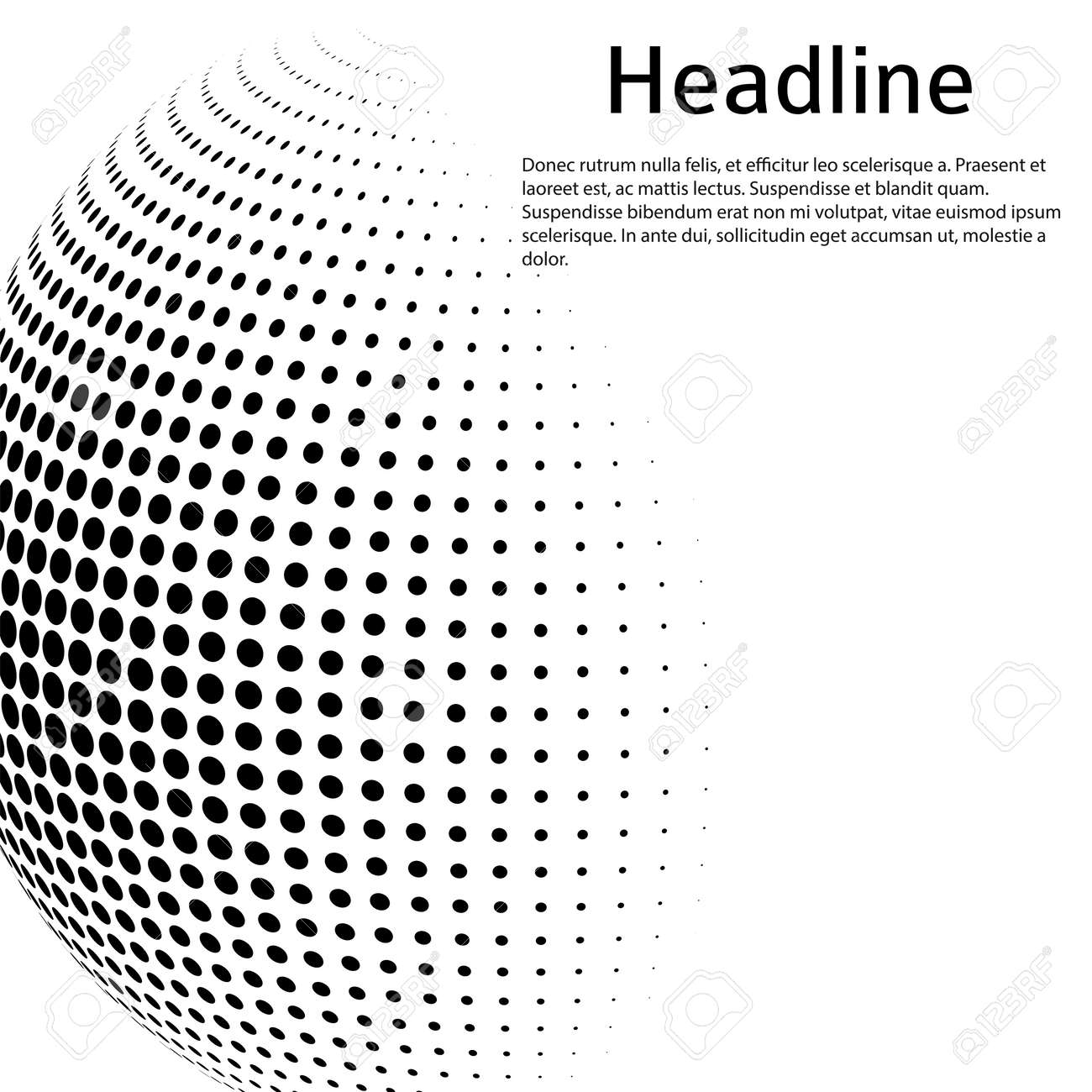 3D decorative balls with chess dot spheres isolated on white. Vector illustration . Design elements for your advertising flyer, presentation template, brochure layout, book cover - 159923413