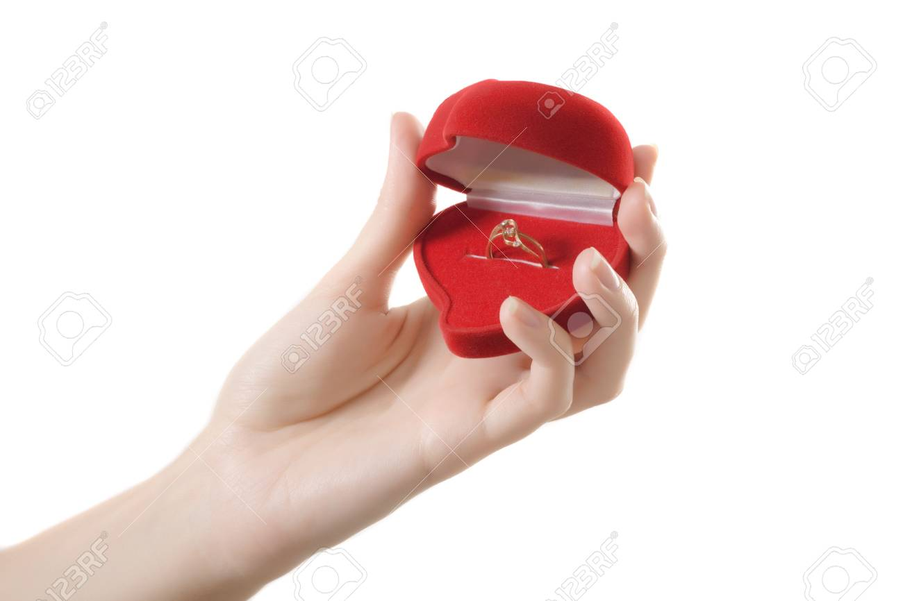 ring hands red heart love Stock Photo - 6532694