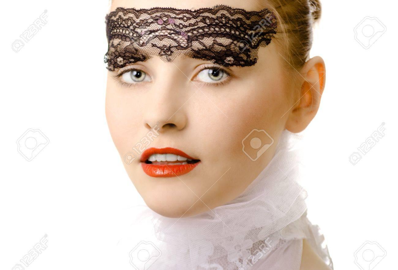 glamour woman closeup air portrait Stock Photo - 7045226