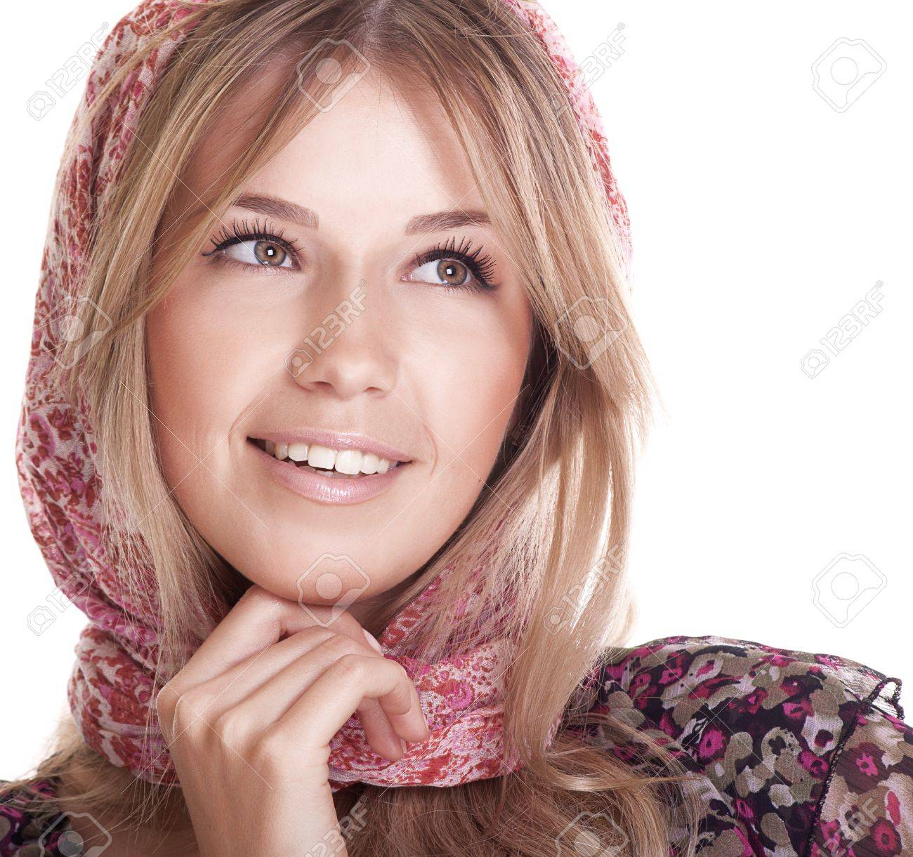 pretty smiling woman with beautiful hair Stock Photo - 9323448