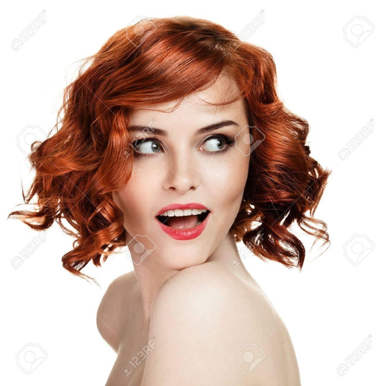 Beautiful smiling woman portrait on white background Stock Photo - 12638744