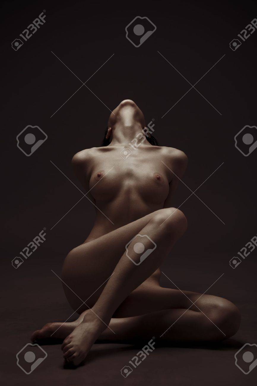 Fashion Portrait Of Naked Woman With Beautiful Slim Body Stock Photo - 12638972
