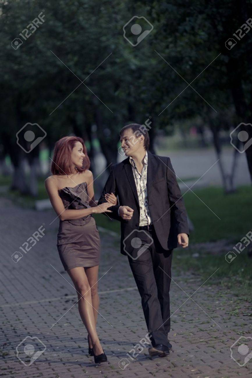romantic photos of couples in love on the street Stock Photo - 12638140