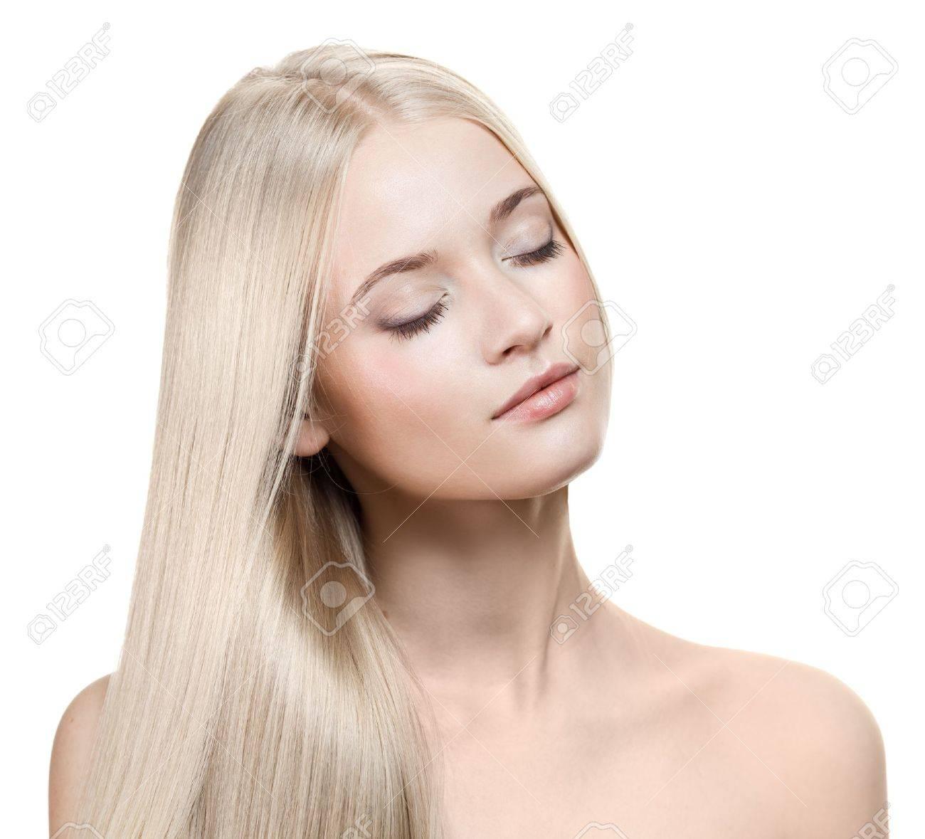 Beautiful Blonde Girl. Healthy Long Hair Stock Photo - 16440075