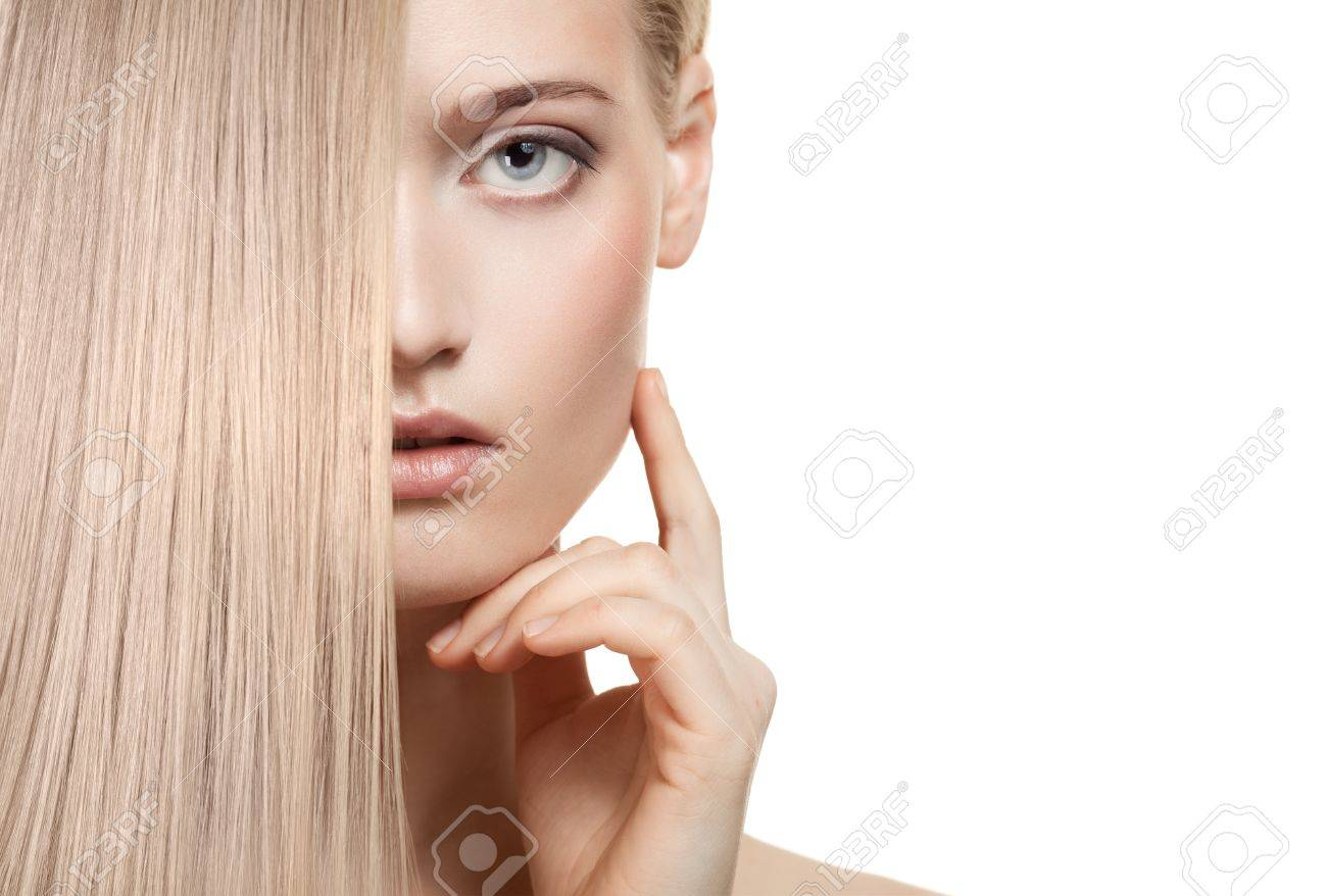 Beautiful Blonde Girl. Healthy Long Hair Stock Photo - 16440073