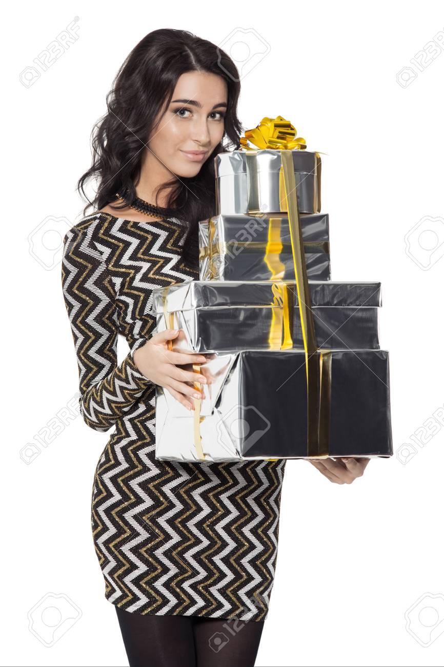 Frauen Geschenke Weihnachten.Stock Photo