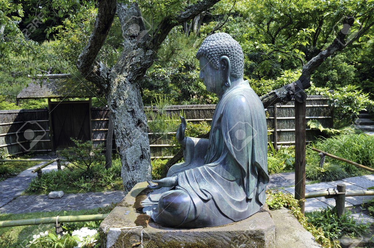 Delicieux Banque Du0027images   Japonaise Statue De Bouddha Dans Un Environnement De  Jardin Zen à Kamakura, Japon