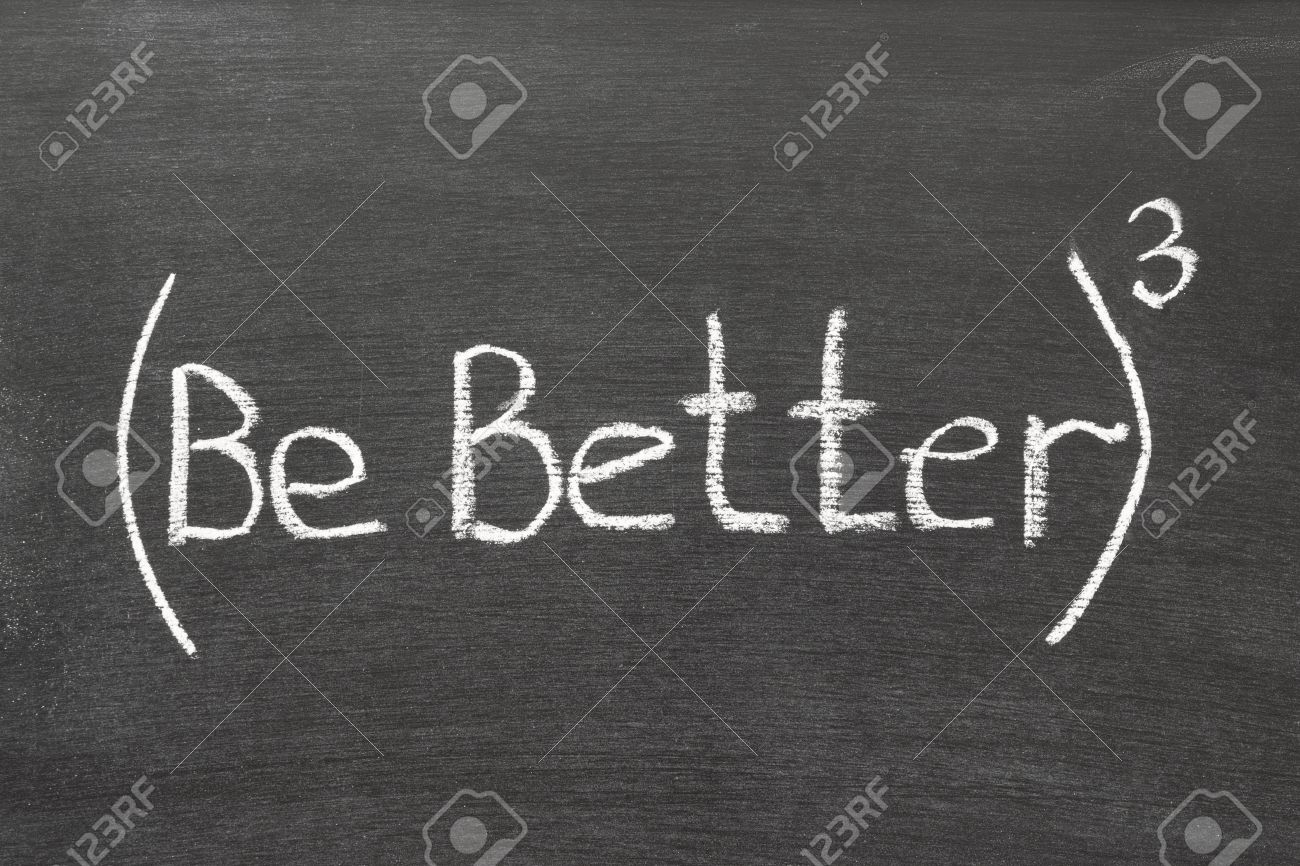 be better phrase in 3rd degree handwritten on blackboard Stock Photo - 15389867