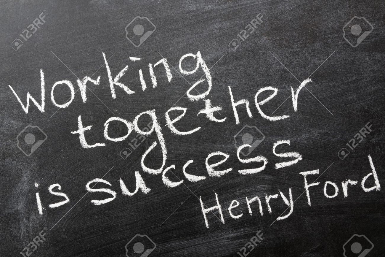 Final Phrase Of Famous Henry Ford Quote Stock Photo Picture And