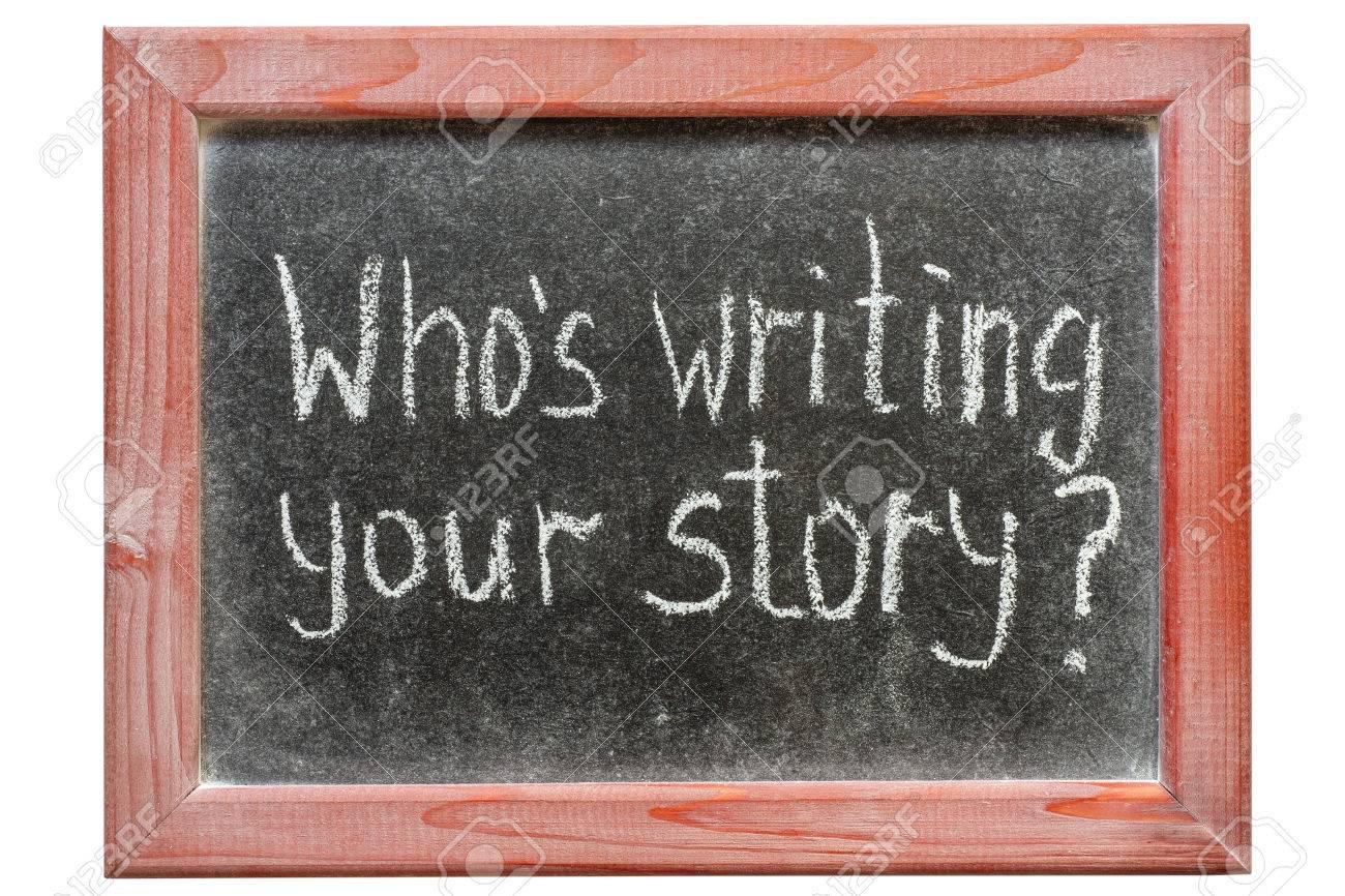 Que Está Escribiendo Su Pregunta De La Historia Escrita A Mano En La ...