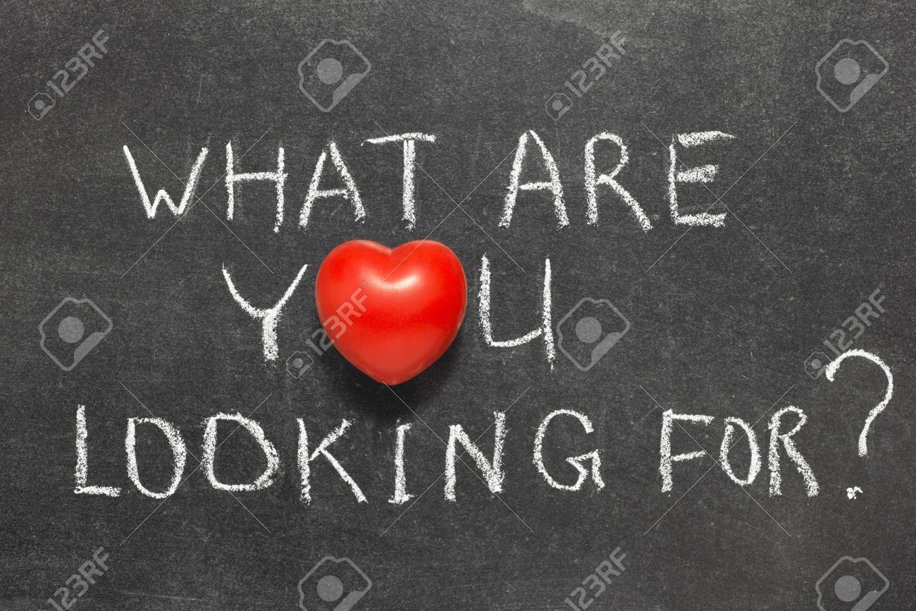 what are you looking for question handwritten on blackboard stock photo what are you looking for question handwritten on blackboard heart symbol instead of o