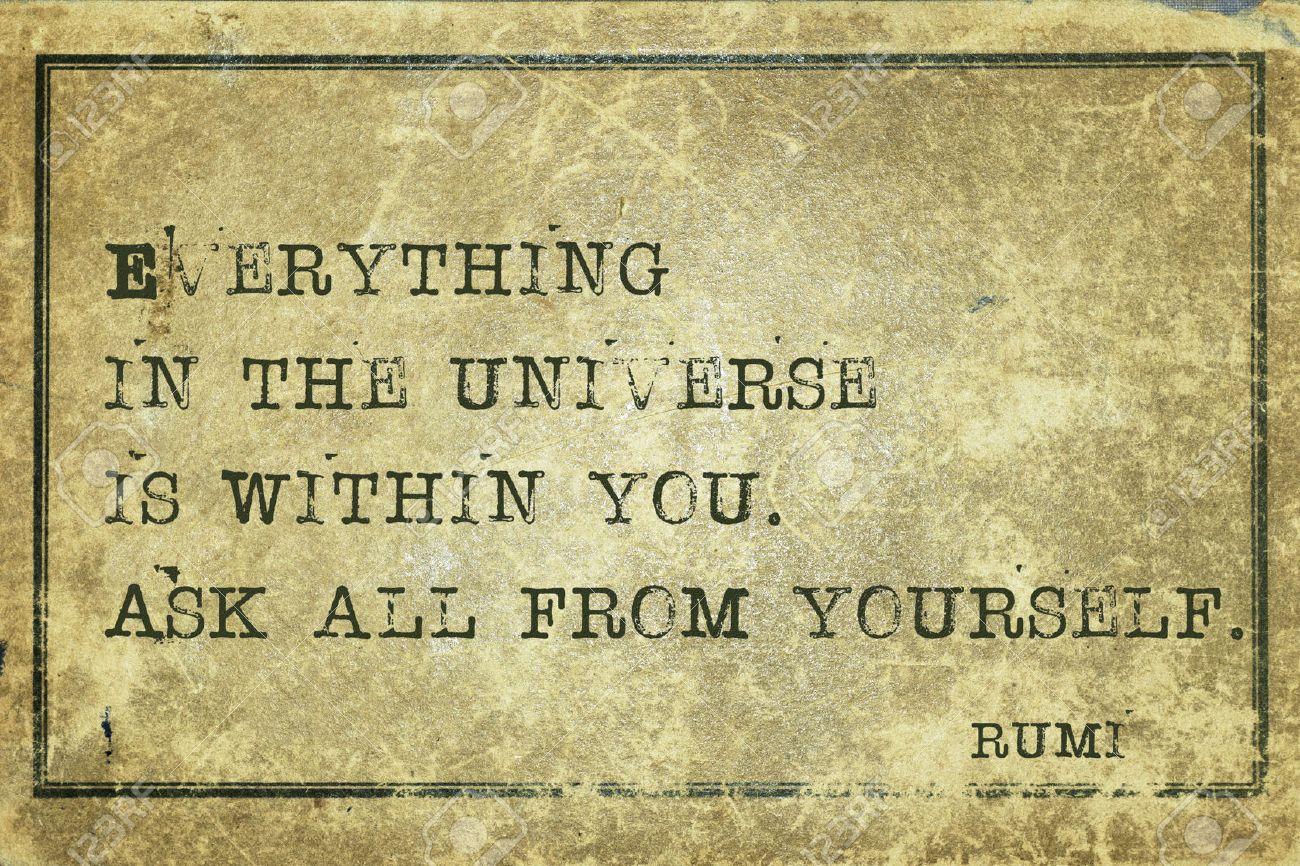 宇宙のすべては - あなたの中は...