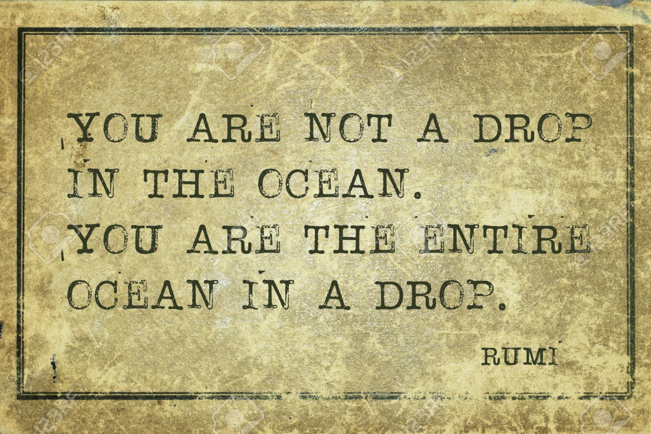 You Are Not A Drop In The Ocean Ancient Persian Poet And