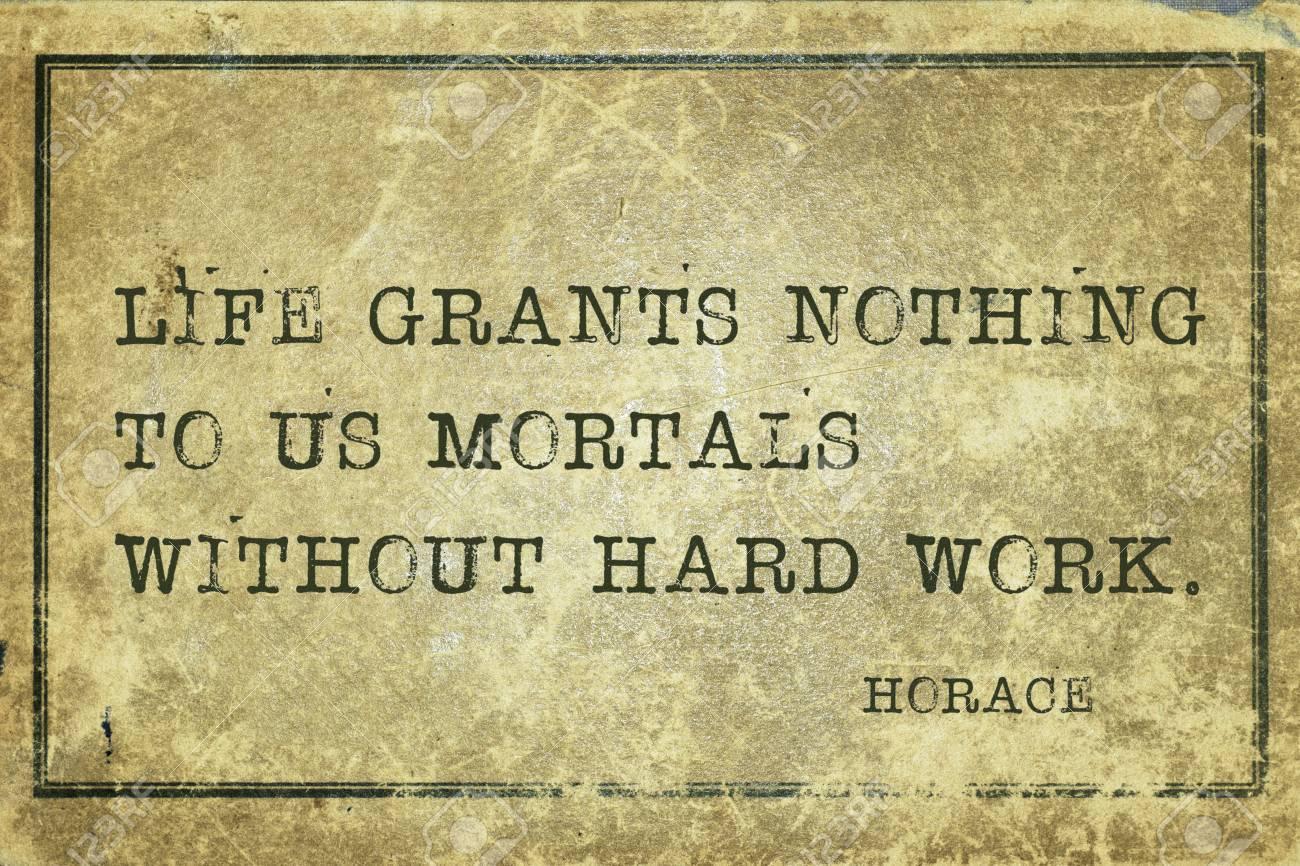 Das Leben Gewahrt Uns Nichts Sterblichen Antiken Romischen Dichter Horaz Zitat Gedruckt Auf Grunge Jahrgang