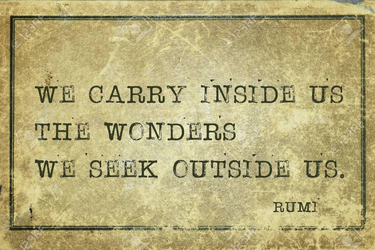 我々 は私たちの中の驚異を運ぶ ...