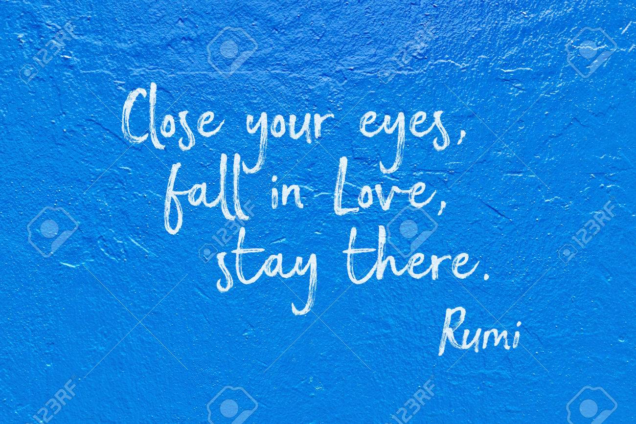 Close Your Eyes Fall In Love Stay There Ancient Persian Stock