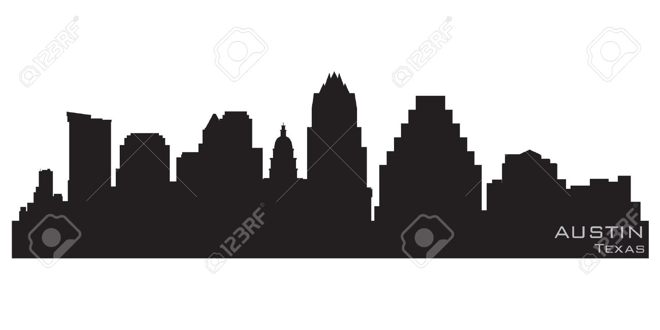 Austin, Texas skyline  Detailed silhouette Stock Vector - 12875819
