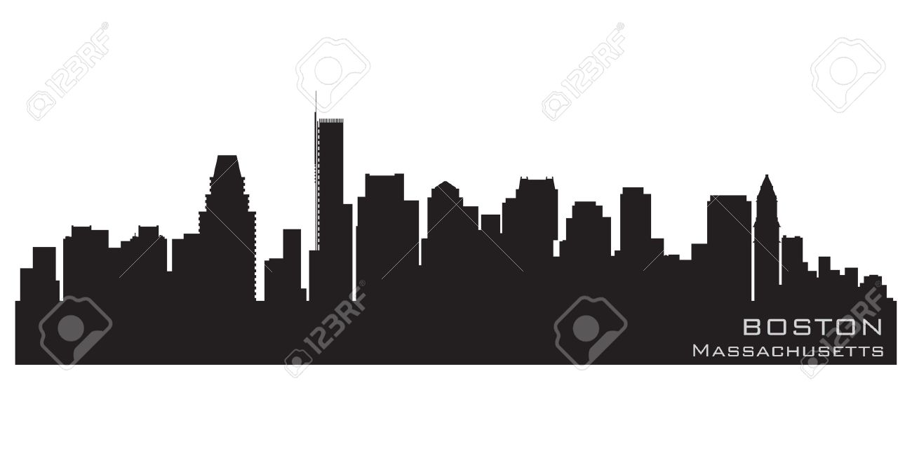 Boston, Massachusetts skyline  Detailed silhouette Stock Vector - 12875827