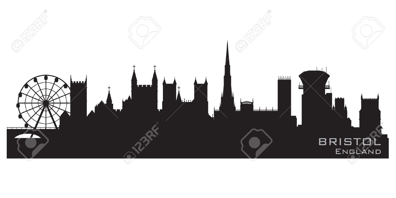 Bristol, England skyline  Detailed silhouette Stock Vector - 12875835