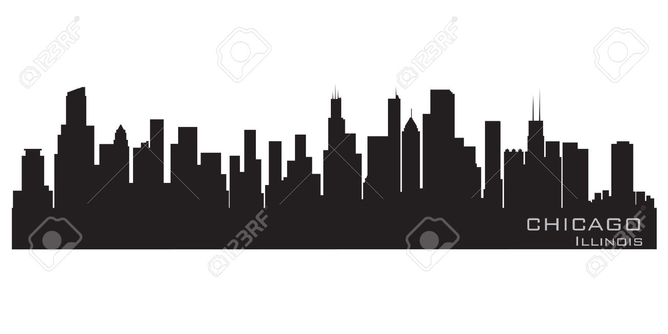 Chicago, Illinois skyline  Detailed silhouette Stock Vector - 12875816