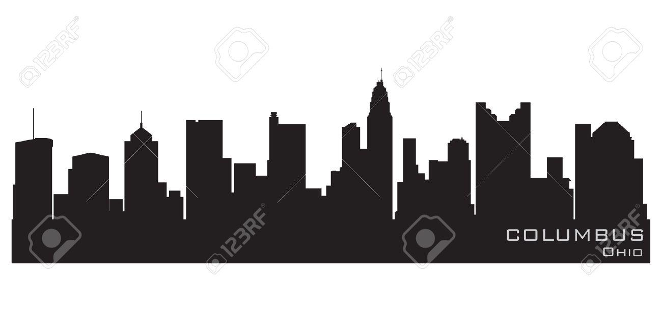 Columbus, Ohio skyline  Detailed silhouette Stock Vector - 12875825