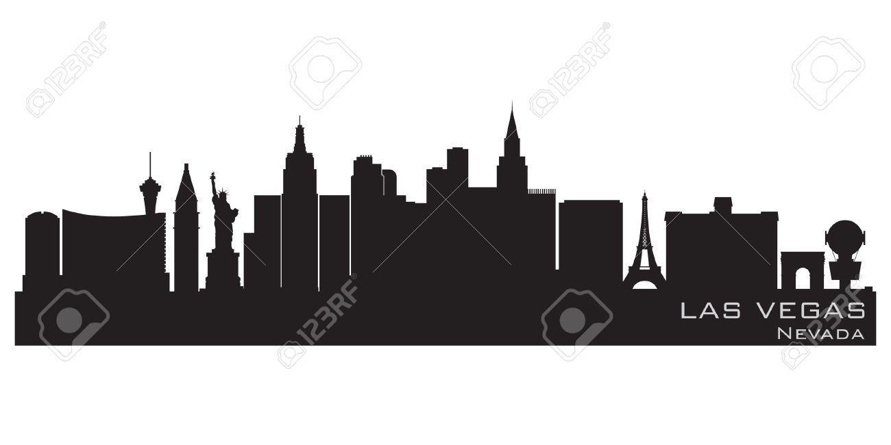 Las Vegas, Nevada skyline  Detailed silhouette Stock Vector - 12875988